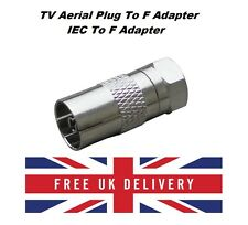F type Male Plug to Coax RF Aerial Plug Female Adapter Connector