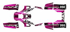Yamaha Warrior 350 Graphics Decal kit Free Custom Service #2500-Hot Pink