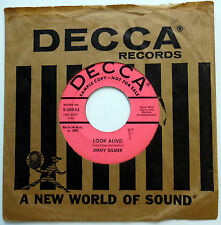 JIMMY GILMER 45 Look Alive! / Because I Need You PROMO Teen POP Decca w2303