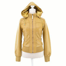 BLOUSON FEMME PERFECTO MOTARD  Bomber SIMILI CUIR Cropped M 38 40 MARRON PERFECT
