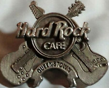 Hard Rock Cafe QUEENSTOWN 1990s Pewter Silver HRC Logo & Crossed Guitars #7640