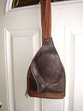 PELLETTERIA DI MARIO Black & Brown Leather Convertible Shoulder Bag Backpack