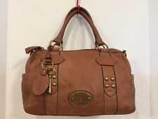 Fossil Beautiful Cognac Maddox Pebbled Leather Satchel Doctor Bag