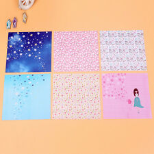 72 Sheets Floral Square Folding Crane Origami Chiyogami Craft Lucky Wish PaperHU