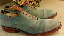 DONALD PLINER SIZE 10 BLUE AND RED SUEDE OXFORDS CHUKKA SHOES