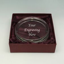Personalised Engraved Round Glass Paperweight Congratulations Retirement