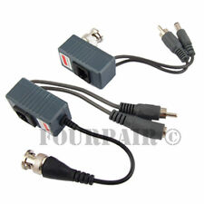 2pcs 1 Pair CCTV Coax BNC Video DC Power RCA Audio Balun Transceiver to CAT5e 6