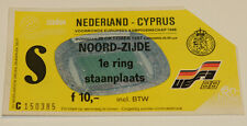 Ticket for collectors EURO q Holland - Cyprus 1987 in Rotterdam