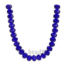 3x4mm Royal Blue Faceted Loose Rondelle 5040# Crystal Glass Beads 200pcs