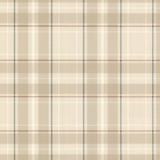 Oxford Caledonia Beige Tartan Wallpaper Paste the Wall Plaid FD21223