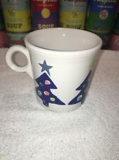 FIESTA WARE Fiestaware blue CHRISTMAS TREE Tom and Jerry Coffee Mug - excellent!