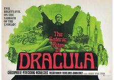 The Satanic Rites of Dracula - Christopher Lee -  A4 Laminated Mini Poster