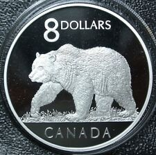 2004 CANADA $8 DOLLAR .9999 SILVER PROOF COIN & The GREAT GRIZZLY STAMP SET