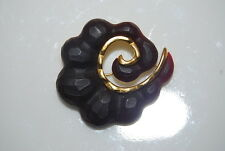 KARL LAGERFELD OF CHANEL COUTURE RUNWAY GOLD TONED METAL AND ACRYLIC PIN BROOCH