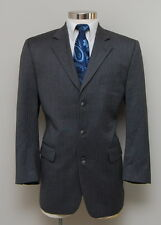 Mens 42S Victor Grey Herringbone Wool Blazer