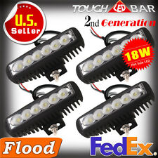 4 x 18W 6 inch LED Light Bar Flood Driving Light for ATV 4WD Jeep Off road Truck