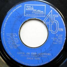 FOUR TOPS 45 Love (Is The Answer) / It's All In The Game JA PRESS Motown c1505