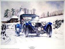 MR5 Cold Start 4.5 Invicta Tourer Beautiful Motoring Classic Car Print Poster