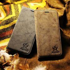iPhone 5s SE Leder Synthetisch Etui Tasche Flip Case Cover Hülle Zubehör Vintage