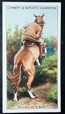 Horse Riding Skills    Women Rider   Refusal to Jump a Bank   Vintage Card # VGC