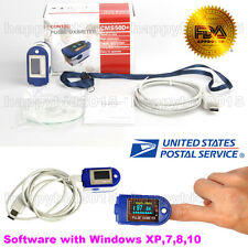 24 hours Recorder,Fingertip Pulse Oximeter OLED USB Memory CMS50D PLUS-USA