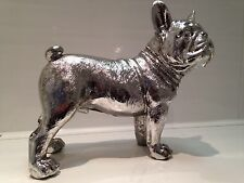 Standing Brushed Silver French Bulldog Ornament Dog Figurine Gift
