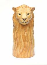 Lion Table Vase NEW  by Quail Pottery ceramic china Gift Boxed