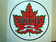 "SUPERTEST Canadian Gas Petrol Pump Car STICKER 6"" Vintage Retro Custom Gasoline"