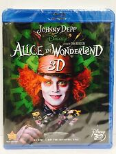 Disney's Alice in Wonderland 3D , Blu-Ray .Also Plays 2D . BRAND NEW.