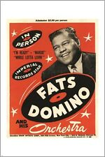 vintage concert poster FATS DOMINO and his ORCHESTRA music legend 24X36 HOT
