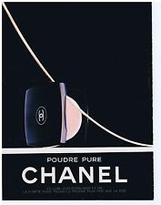 PUBLICITE ADVERTISING 104 1987 CHANEL poudre pur