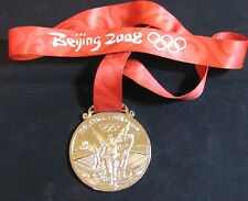 SILVER MEDAL - 2008 BEIJING OLYMPICS - WITH SILK RIBBON & STORAGE POUCH