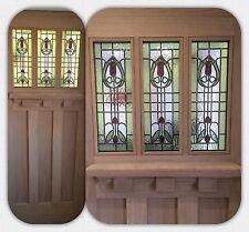 External Stained Glass Door (Oak Double Glazed) (Brand New) Tuscany