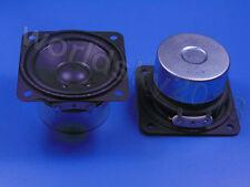 """2pcs 2.5"""" inch 4Ohm 4Ω 15W Full Range Audio Speaker Stereo Woofer Loudspeaker PU"""