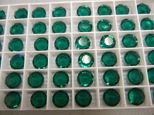 36 swarovski channel stones,47ss emerald #1110