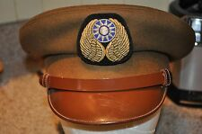 WW2 Flying Tigers Chinese Air Force crusher hat with bullon badge