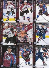 2015-16 Upper Deck Colorado Avalanche Complete Series 1 & 2 Team Set 13 Cards