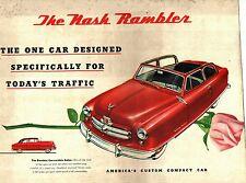 1953 NASH RAMBLER COLOR SALES BROCHURE