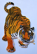 Big Panthera Tigris Tiger Motorcycles Embroidered Iron on Patch Free Postage