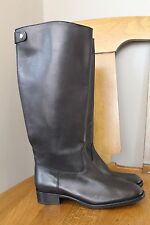 New J Crew Field Boots Extended Calf Black 7.5 $348 04188 Sold Out Online