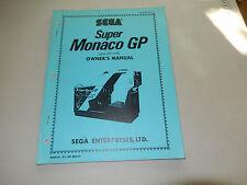 SUPER MONACO GP COCK PIT SIT DOWN SEGA  video game owners manual