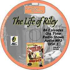 The Life of Riley - William Bendix 86 Old Time Radio Shows - Audio MP3 CD Disk 1