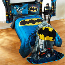 Batman Guardian Boys Twin Single Comforter & Sheets, 4 Piece Bed In A Bag, NEW