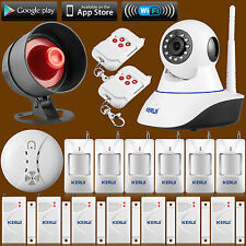 720P WiFi IP Camera Alarm System for Home Burglar Alarm Security Kit Loud Siren