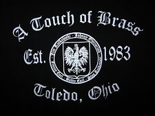 A TOUCH OF BRASS logo seal Polish polka T shirt medium tee Est 1983 Toledo OHIO
