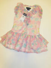 NWT Girls Ralph Lauren Polo Floral Chiffon Lined Dress Sz 5 NEW
