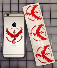4x Pokemon Go Team VALOR Symbol cell phone Laptop Vinyl Decal Sticker GPS