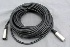 Black Audio Music Microphone Male to Male XLR Cable - 50' Foot Length - NEW