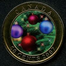 """2007 Canada 50 Cent Coin """" Holiday Ornaments """""""