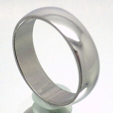 6mm MENS SILVER STAINLESS STEEL TRADITIONAL WEDDING BAND RING SIZE 12.75